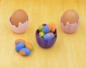 Lot de trois tasses de l'oeuf de Pâques / table de Pâques / coquetiers imprimée en 3D / couleur coquetiers / couleurs de printemps