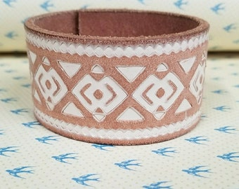 Jkleathers Detailed Leather Cuff ~ wear your story ~ optional hand stamped words ~ bracelet