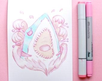 Shark Sketch - Print