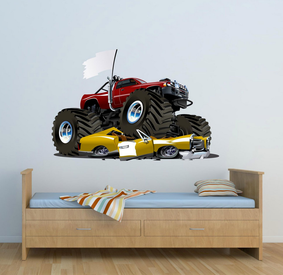 Full Colour Monster Truck Wall Decal Car Wall Art Sticker