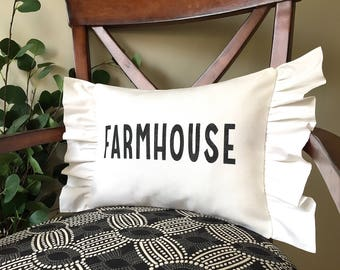 Farmhouse Pillow, Decorative Pillow, Rustic Home Decor, Accent Pillow, Rustic Decor, Gift, Farmhouse Decor, Guest Room Decor