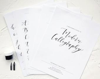 Calligraphy workbook etsy