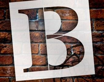 B -Monogram Letter Stencil - Select Size - STCL1715 - by StudioR12