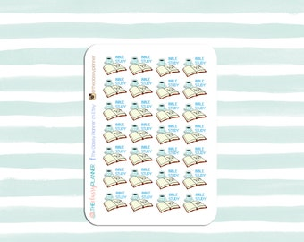 Bible Study Planner Stickers for Erin Condren, Plum Paper Planner, Christian stickers