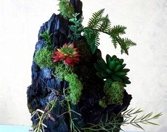 Sculpture wood burned, burnt wood carving, vegetable carving, wood carving, plant design, green