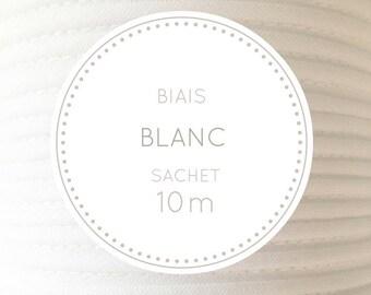 10 m through - white bag