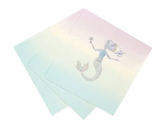 MERMAID Party Napkins | Mermaid Decor | Little Mermaid Party | Mermaid Party Supplies | Mermaid Plates | Mermaid under the sea party