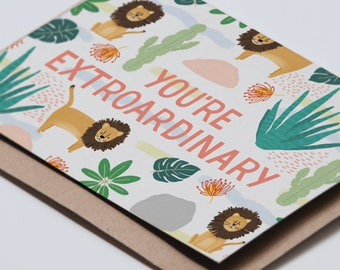 Extroardinary greeting card