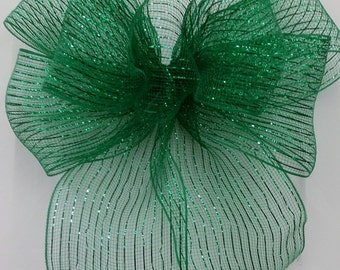 Green Mesh Bow