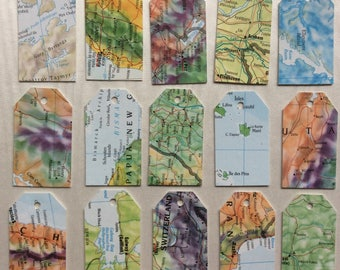 Map gift tags etsy atlas gift tags world map gift tags map price tags map swing tickets gumiabroncs