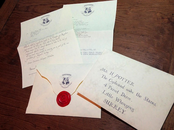Personalized Hogwarts Acceptance Letter Printable High