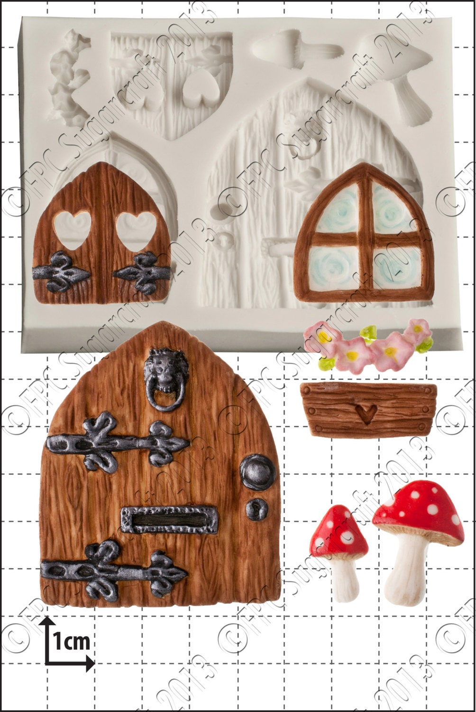 🔎zoom  sc 1 st  Etsy & Fairy silicone mould mold \u0027Fairy Door \u0026 Windows\u0027