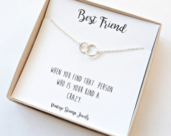Best Friend Gift, Eternity Necklace ,Gold Necklace,  Silver circle Necklace, Minimalist,Best Friend Gift,  Best Friend Gift Under 30