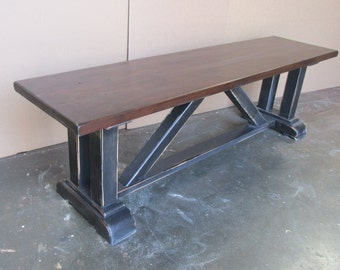 Bench, Table, Reclaimed Wood, Rustic, Handmade