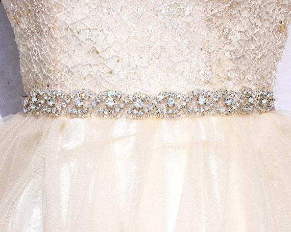 Rhinestone Dress Belts