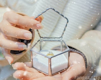 Wedding Ring Box, Wedding Ring Holder, Glass Ring Box, Ring Box, Ring Bearer Box, Engagement Ring Box, Jewelry Box, Ring Holder, Ring Dish