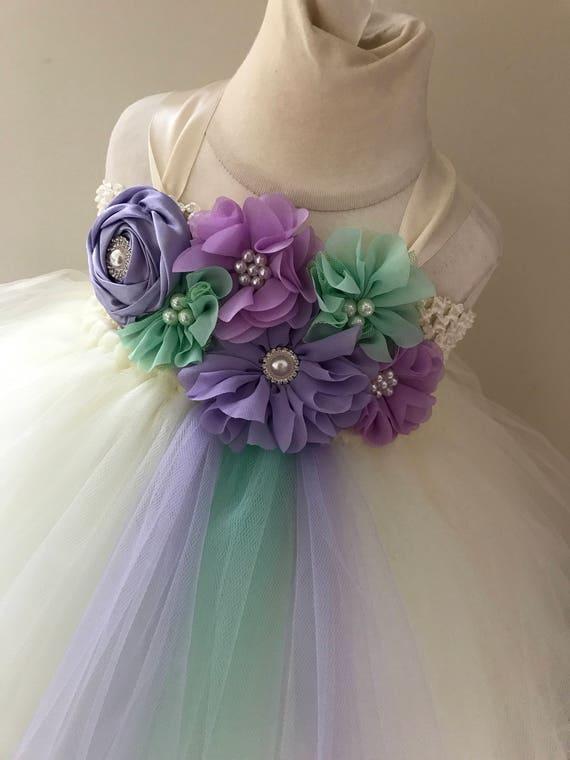 Lilac Tulle Flower Girl