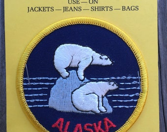 Alaska Vintage Souvenir Travel Patch from IAAC in Seattle WA