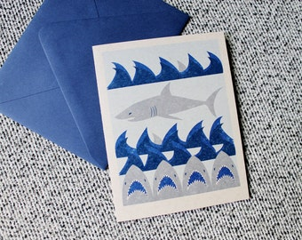 counting days until shark week greeting card
