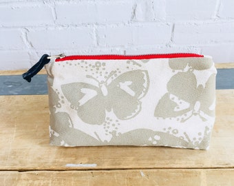 Oatmeal Butterfly Make-up bag, Ready To Ship Now