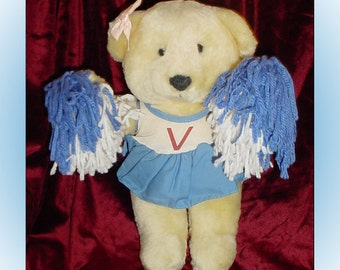Cheerleader Teddy Bear Plush America Wego Vintage Stuffed Animal
