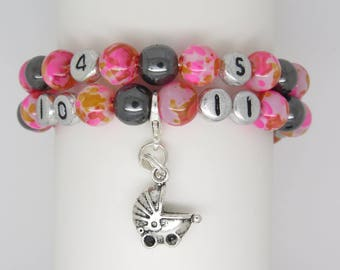Nursing with choice of charm, gift MOM, Mommy bracelet