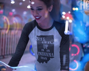 """She Grew Up In An Indiana Town is inspired by the Tom Petty """"Last Dance with Mary Jane""""/tom petty/tom petty shirt/ lyrics shirt/ indiana tee"""
