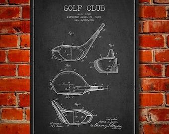 1926 Golf Club Patent, Canvas Print,  Wall Art, Home Decor, Gift Idea