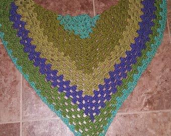 Crochet scarf shaw