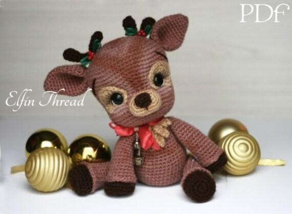 Elfin Thread- Ritva, the Christmas Reindeer PDF Amigurumi Pattern ...