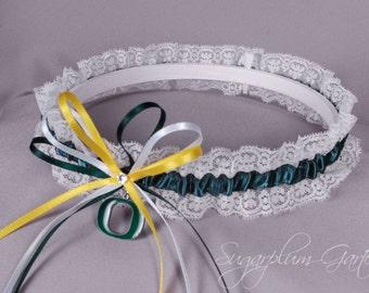 University of Oregon Ducks Lace Wedding Garter - Ready to Ship
