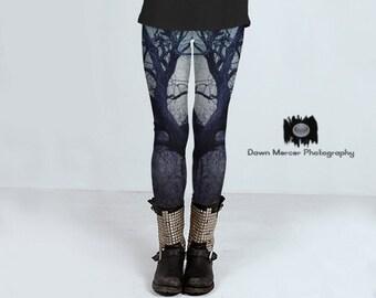 Printed Leggings Artistic Tree Tights Tree Art Leggings Artsy Yoga Pants Fashion High Waisted Compression Fit Artist Designed