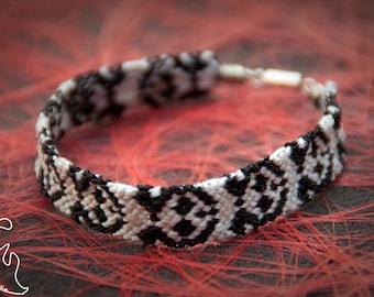 Bracelet pandas tissés