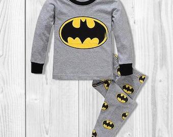 Boy Super Hero Pajamas Set, Boy Batman Pajamas, Boy Super Heroes Clothes