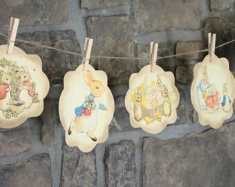 Vintage Peter Rabbit Banner ~ Decoration for a Baby Shower, Nursery, or Easter ~ Instant Download !