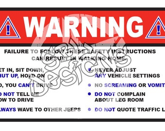 Warning Label for JP