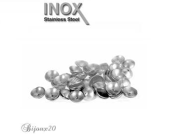 20 bead caps 4mm round stainless steel caps Cap M00727