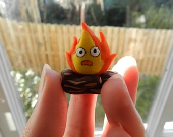 Calcifer Clay Figurine from Howl's Moving Castle, Handcrafted from Top Quality Polymer Clay