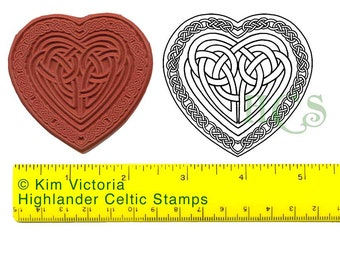 Celtic Knotwork Large Heart Unmounted Rubber Stamp 447