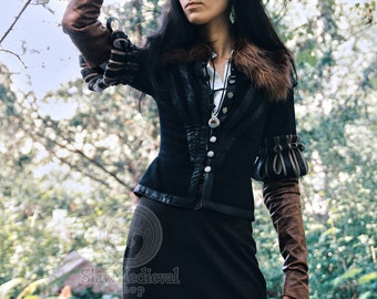 """Sale!  Jacket  Yennefer"""" size XS and L - Yennefer from Vengerberg , the Witcher game, Perfect for LARP Cosplay and historical stylizations."""