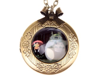 Necklace locket totoro and mei 2020m