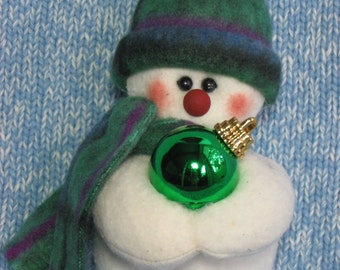 Little Helper -- Snowman Ornament