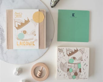 Sale! Baby book, Journal Album, MINT Fox - Memory book, Journal + First Words notebook All-In-One