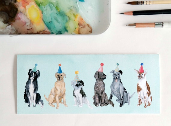 Greeting Card: Lots of Party Dogs