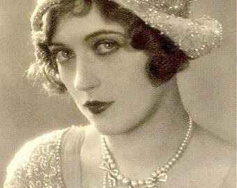 HOLD PRISTINE Vintage Pearl Necklace Bridal Choker,Glass Ivory Pearl & Rhinestone Statement,1950 Wedding Jewelry, Art Deco Pave Multi Strand