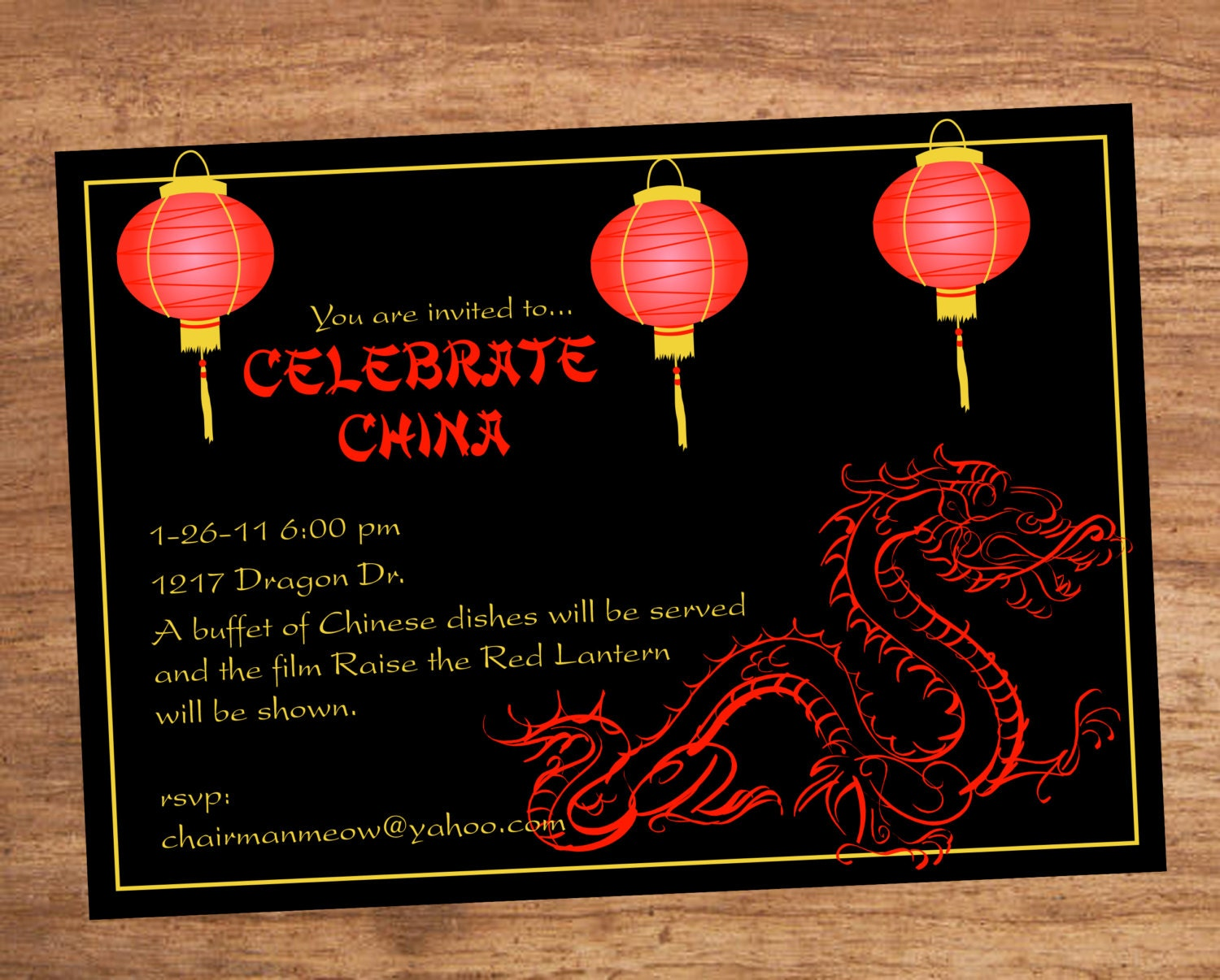 Excellent Chinese Party Invitations s Invitation Card Ideas