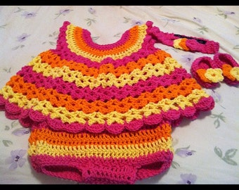 Crochet 2 Piece Baby Outfit