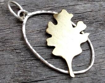 CLEARANCE: Oak Leaf Charm