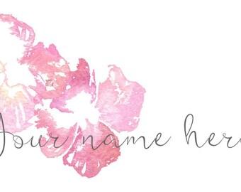Watercolour Floral Blogger Header.