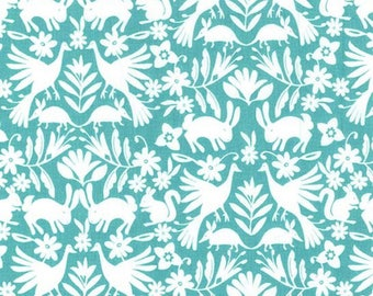 It's a Wildlife in Luna from the Happy Birds Collection by Michael Miller Fabrics, Bird Fabric, Squirrel, Bunnies